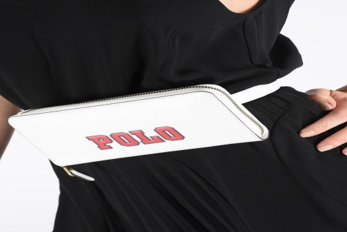Petite Maroquinerie Polo Ralph Lauren LONG ZIP BELT BAG Noir vue bas / vue portée sac