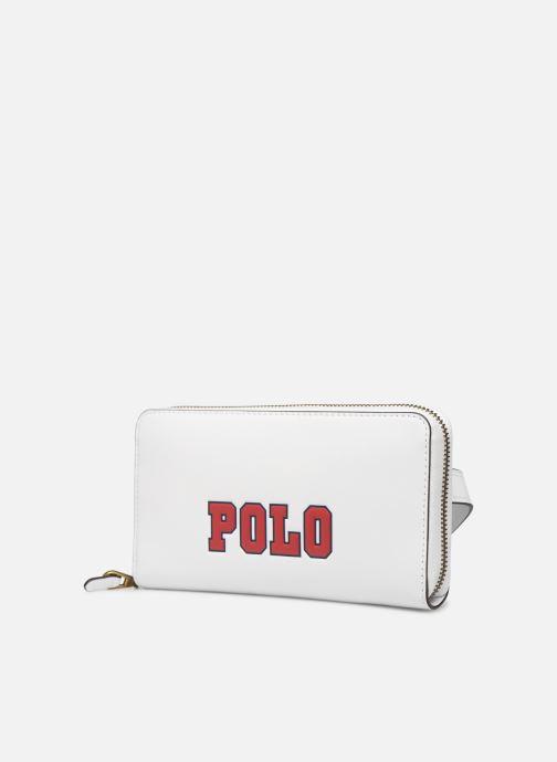 Petite Maroquinerie Polo Ralph Lauren LONG ZIP BELT BAG Blanc vue portées chaussures
