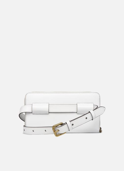 Pelletteria Polo Ralph Lauren LONG ZIP BELT BAG Bianco immagine frontale