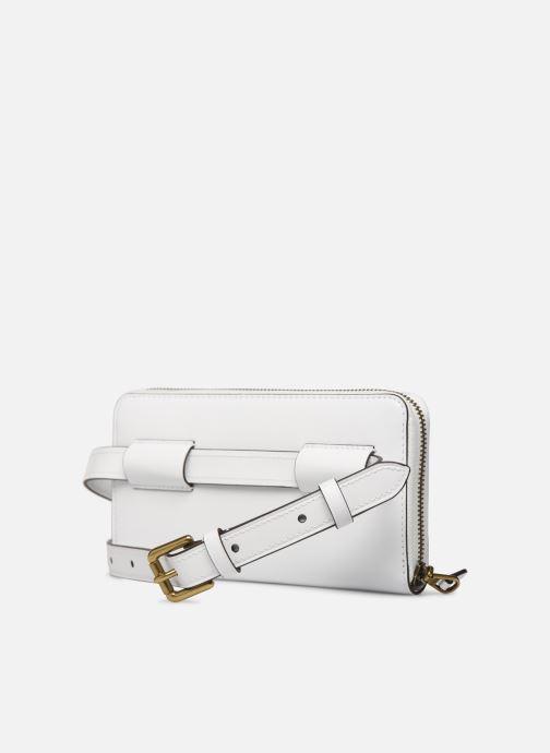 Pelletteria Polo Ralph Lauren LONG ZIP BELT BAG Bianco immagine destra