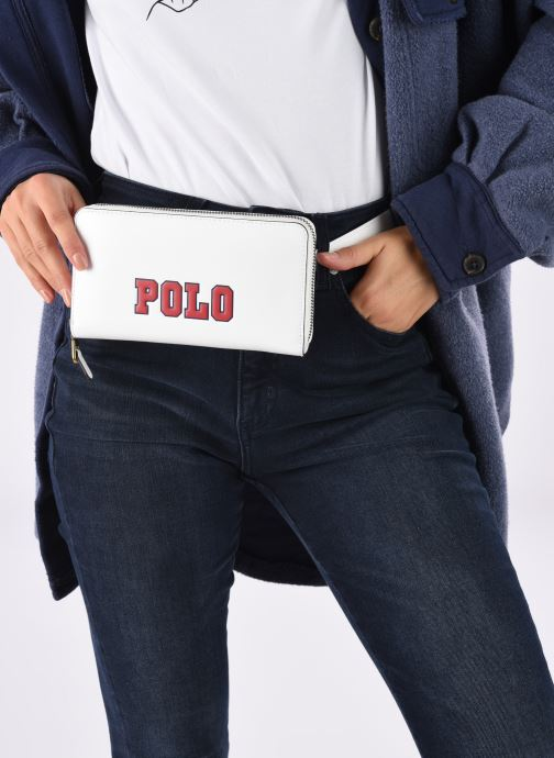 Petite Maroquinerie Polo Ralph Lauren LONG ZIP BELT BAG Blanc vue bas / vue portée sac
