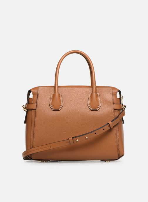 Bolsos de mano Michael Michael Kors MERCER BELTED MD SATCHEL Marrón vista de frente