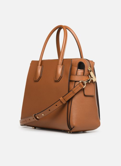 Bolsos de mano Michael Michael Kors MERCER BELTED MD SATCHEL Marrón vista lateral derecha