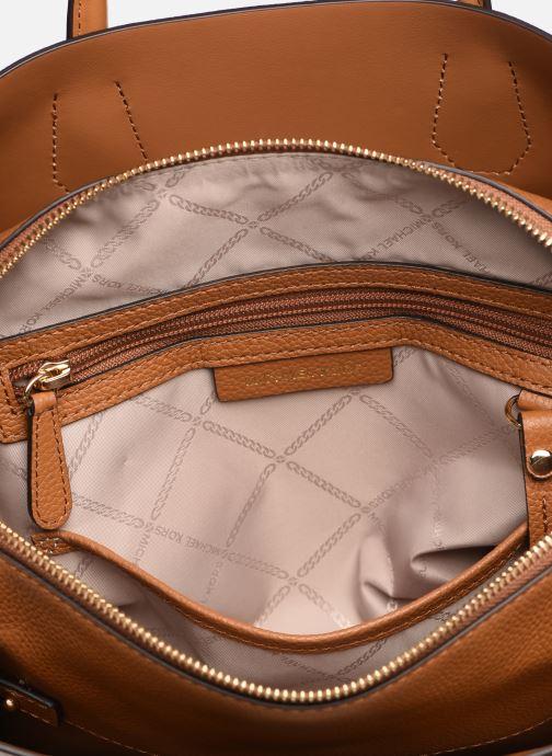 Handtaschen Michael Michael Kors MERCER BELTED MD SATCHEL braun ansicht von hinten
