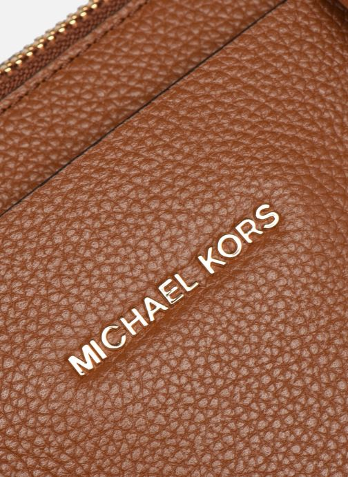 Bolsos de mano Michael Michael Kors MERCER BELTED MD SATCHEL Marrón vista lateral izquierda