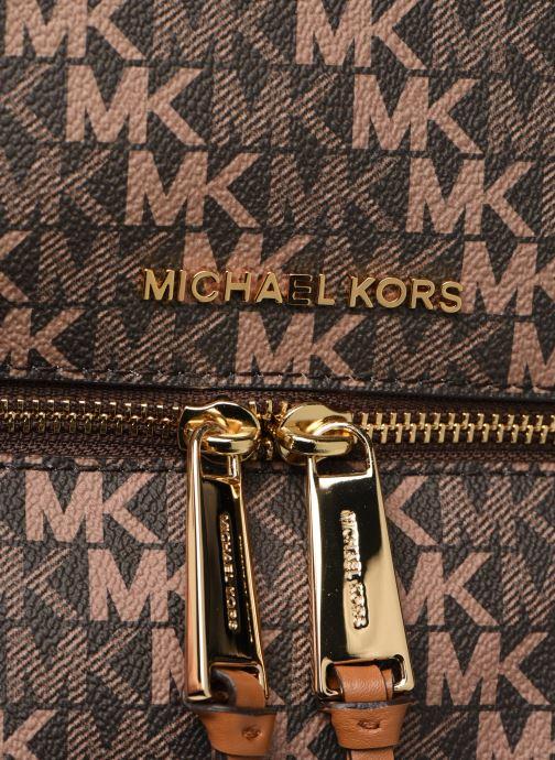 Sacs à dos Michael Michael Kors RHEA ZIP Marron vue gauche