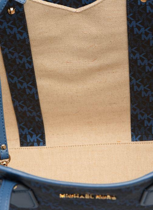 Handtassen Michael Michael Kors EVA LG TOTE Blauw achterkant