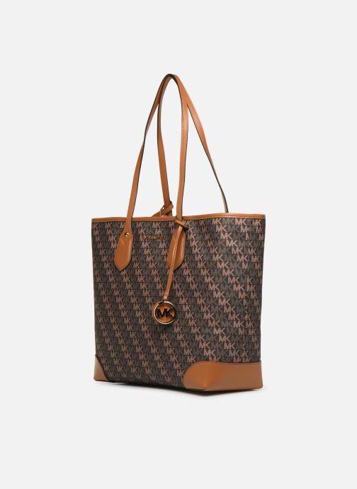 Handtaschen Michael Michael Kors EVA LG TOTE braun schuhe getragen