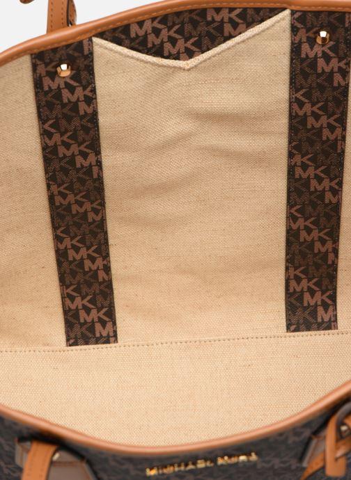Handtaschen Michael Michael Kors EVA LG TOTE braun ansicht von hinten