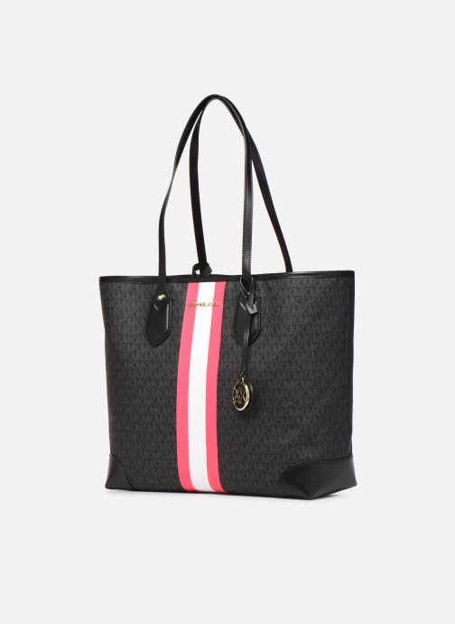 Handtaschen Michael Michael Kors EVA LG TOTE schwarz schuhe getragen
