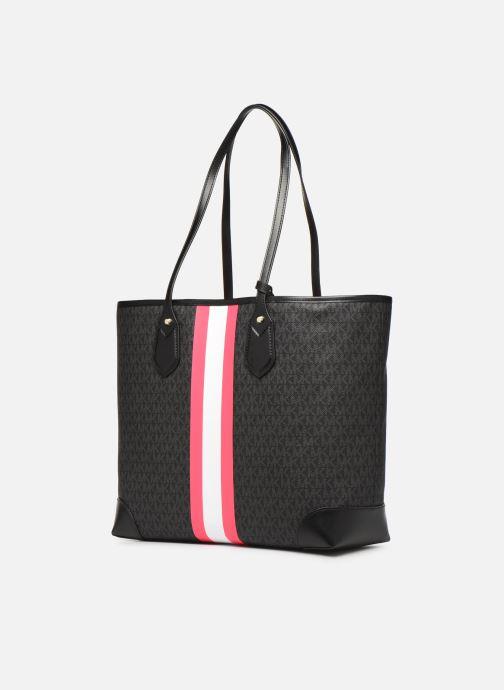 Handtaschen Michael Michael Kors EVA LG TOTE schwarz ansicht von rechts