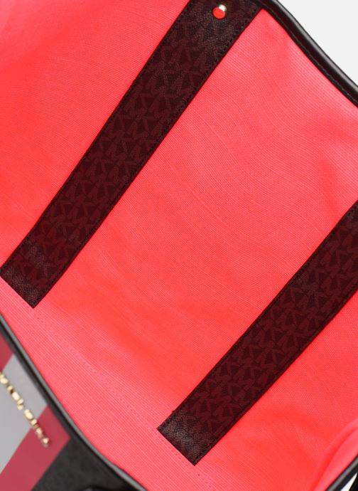 Handtassen Michael Michael Kors EVA LG TOTE Zwart achterkant