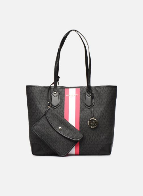 Handtaschen Michael Michael Kors EVA LG TOTE schwarz ansicht von links