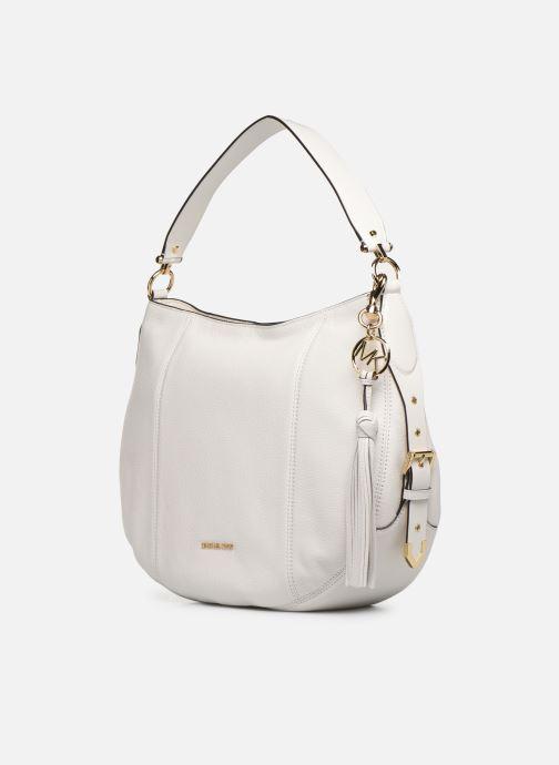 Handtaschen Michael Michael Kors BROOKE HOBO weiß schuhe getragen