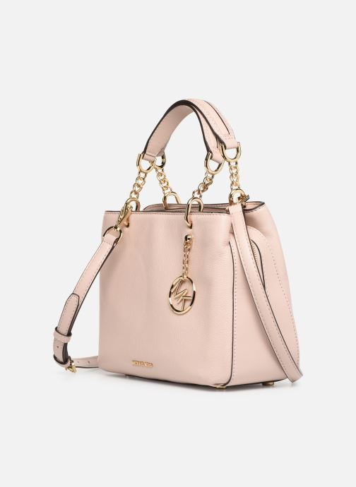 Handtaschen Michael Michael Kors LILLIE MD SATCHEL rosa schuhe getragen