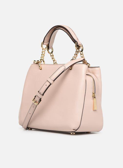 Handtaschen Michael Michael Kors LILLIE MD SATCHEL rosa ansicht von rechts