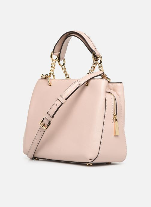 Handbags Michael Michael Kors LILLIE MD SATCHEL Pink view from the right