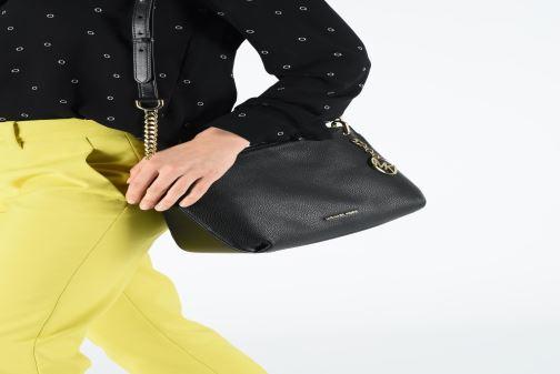 Handbags Michael Michael Kors LILLIE LG MESSENGER Black view from above