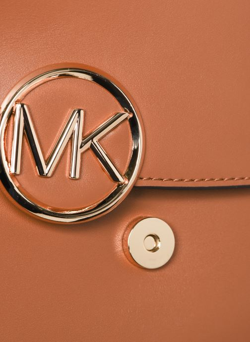 Bolsos de mano Michael Michael Kors LILLIE MD SADDLE Marrón vista lateral izquierda