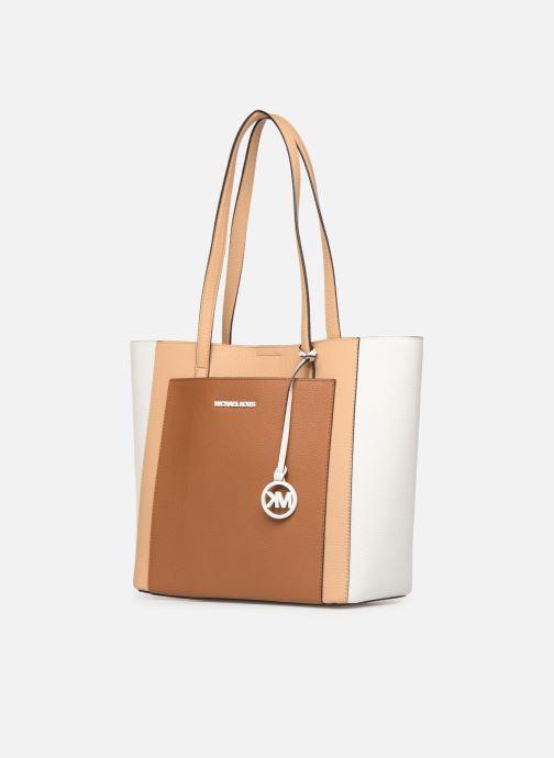 Handbags Michael Michael Kors ANNETTE LG POCKET TOTE Brown model view