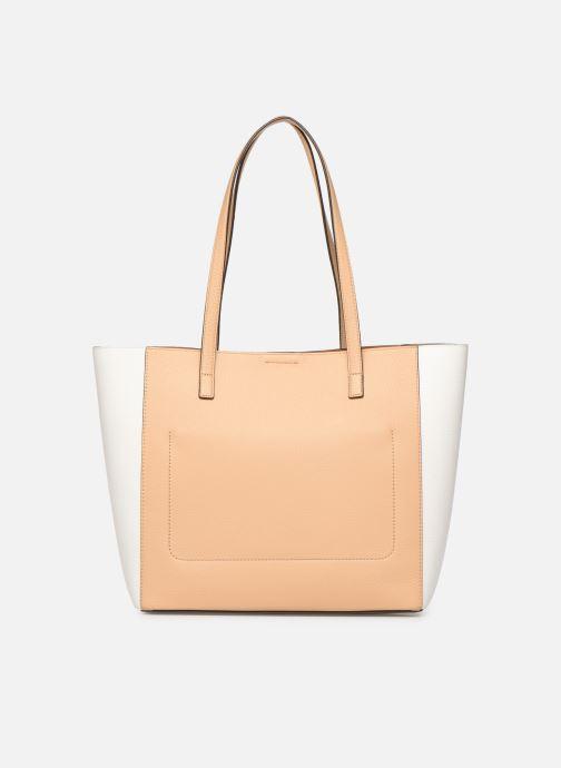 Handbags Michael Michael Kors ANNETTE LG POCKET TOTE Brown front view