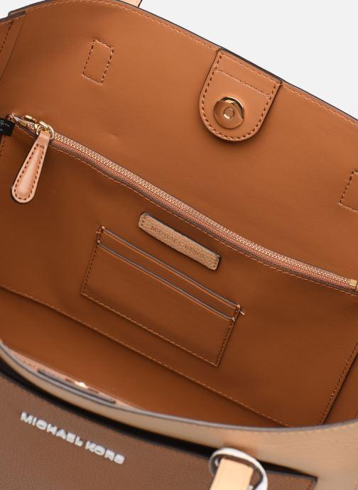 Handbags Michael Michael Kors ANNETTE LG POCKET TOTE Brown back view