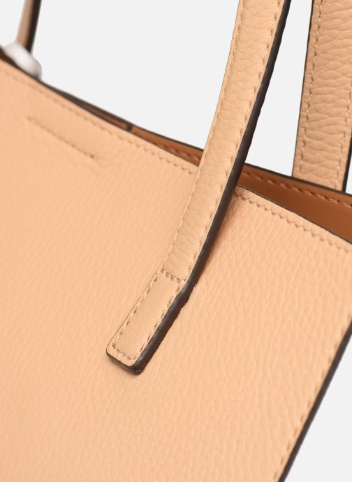 Handbags Michael Michael Kors ANNETTE LG POCKET TOTE Brown view from the left