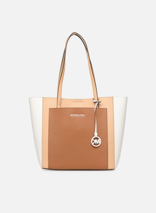 Handbags Michael Michael Kors ANNETTE LG POCKET TOTE Brown detailed view/ Pair view