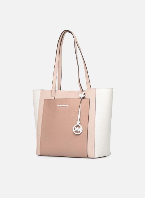 Handtaschen Michael Michael Kors ANNETTE LG POCKET TOTE rosa schuhe getragen