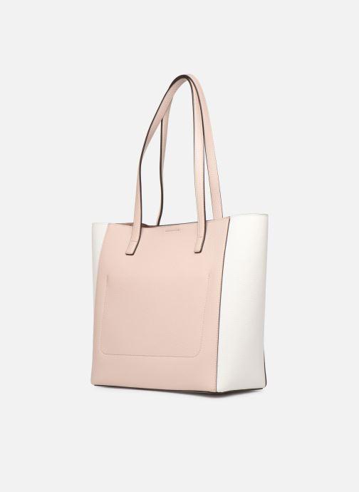 Handtaschen Michael Michael Kors ANNETTE LG POCKET TOTE rosa ansicht von rechts
