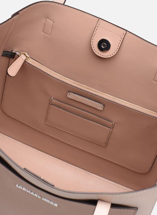 Handtaschen Michael Michael Kors ANNETTE LG POCKET TOTE rosa ansicht von hinten