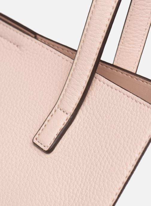 Handtaschen Michael Michael Kors ANNETTE LG POCKET TOTE rosa ansicht von links