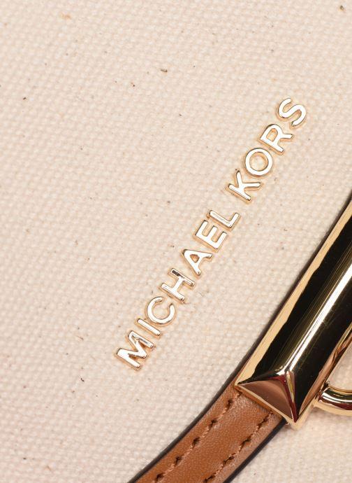 Handtassen Michael Michael Kors MARA MD SADDLE BAG Wit links