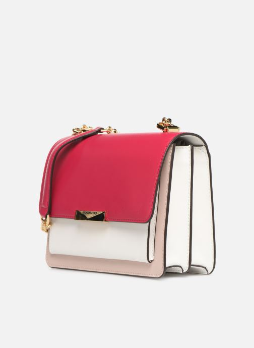 Handtaschen Michael Michael Kors JADE LG GUSSET SHOULDER rosa schuhe getragen