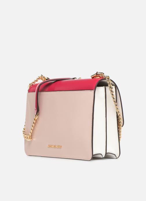 Handtaschen Michael Michael Kors JADE LG GUSSET SHOULDER rosa ansicht von rechts