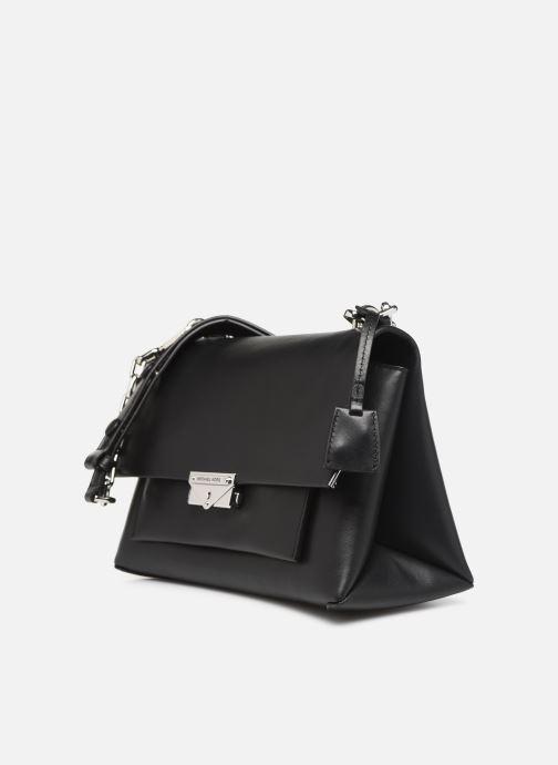 Handbags Michael Michael Kors CC LG CHAIN SHOULDER Black model view