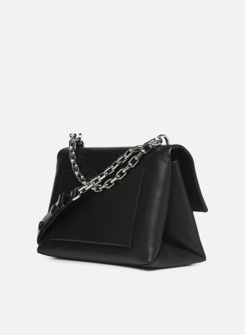 Handbags Michael Michael Kors CC LG CHAIN SHOULDER Black view from the right
