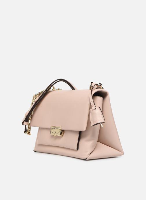 Bolsos de mano Michael Michael Kors CECE LG CHAIN SHOULDER Rosa vista del modelo