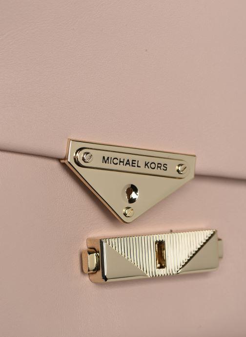 Bolsos de mano Michael Michael Kors CECE LG CHAIN SHOULDER Rosa vista lateral izquierda