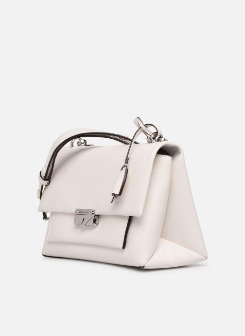 Handväskor Michael Michael Kors CC LG CHAIN SHOULDER Vit bild av skorna på