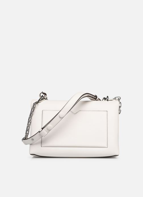 Bolsos de mano Michael Michael Kors CECE LG CHAIN SHOULDER Blanco vista de frente