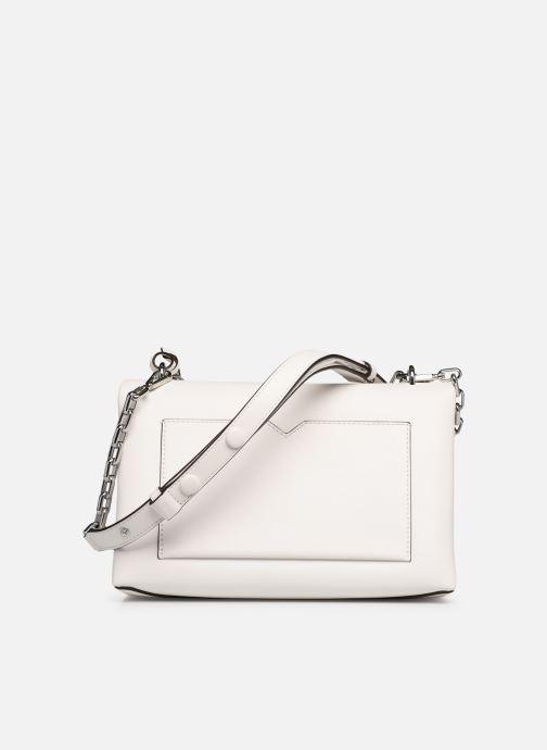 Handväskor Michael Michael Kors CC LG CHAIN SHOULDER Vit bild från framsidan