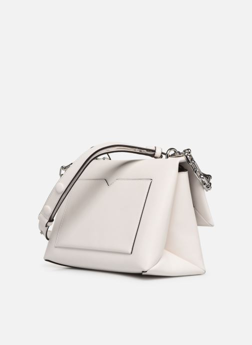 Handbags Michael Michael Kors CC LG CHAIN SHOULDER White view from the right