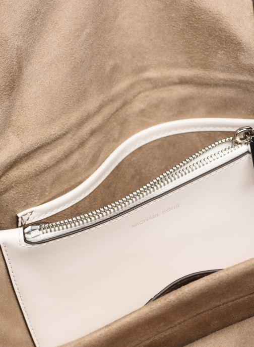 Handväskor Michael Michael Kors CC LG CHAIN SHOULDER Vit bild från baksidan