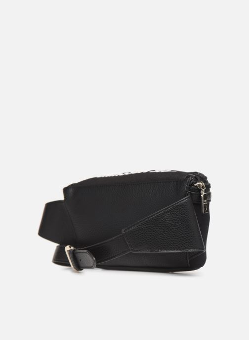 Marroquinería pequeña Love Moschino THE CANVAS HEARTS WAISTABG Negro vista lateral derecha
