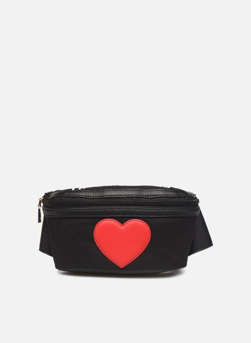 Petite Maroquinerie Love Moschino THE CANVAS HEARTS WAISTABG Noir vue détail/paire