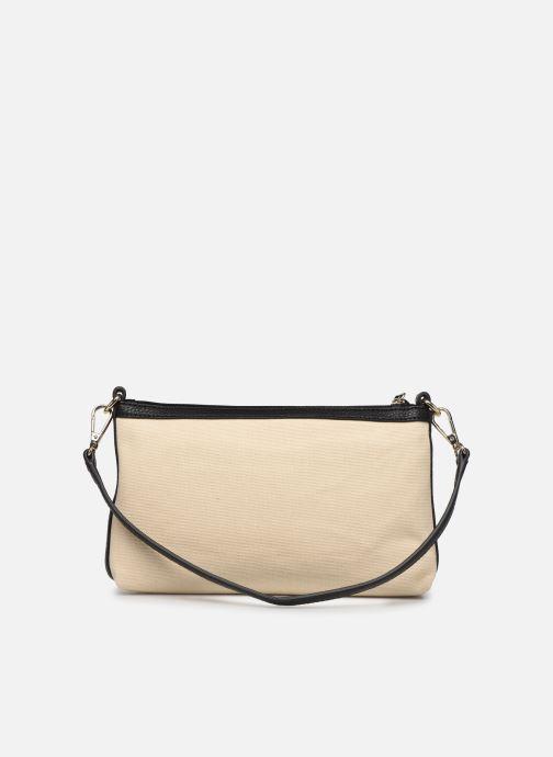 Handtaschen Love Moschino THE CANVAS HEARTS CLUTCH weiß ansicht von vorne
