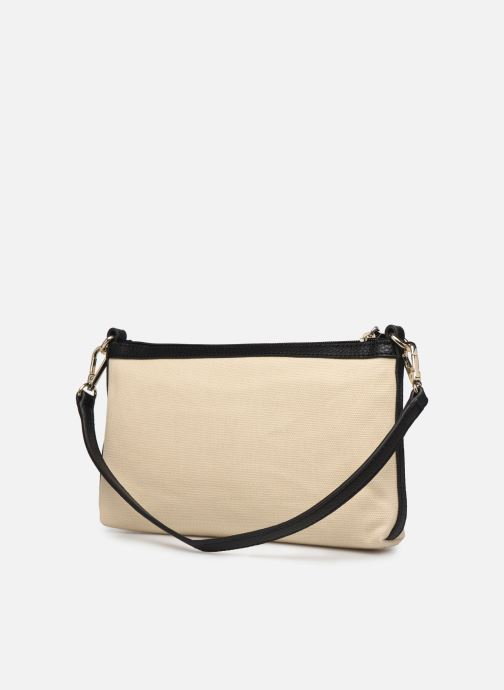 Sacs à main Love Moschino THE CANVAS HEARTS CLUTCH Blanc vue droite