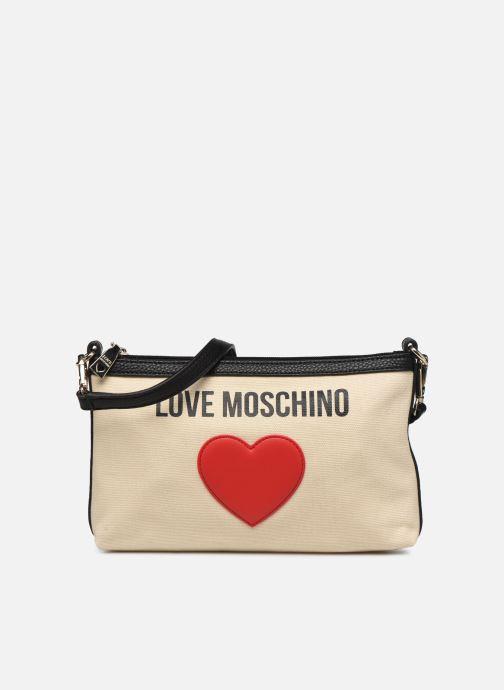 Handtaschen Love Moschino THE CANVAS HEARTS CLUTCH weiß detaillierte ansicht/modell
