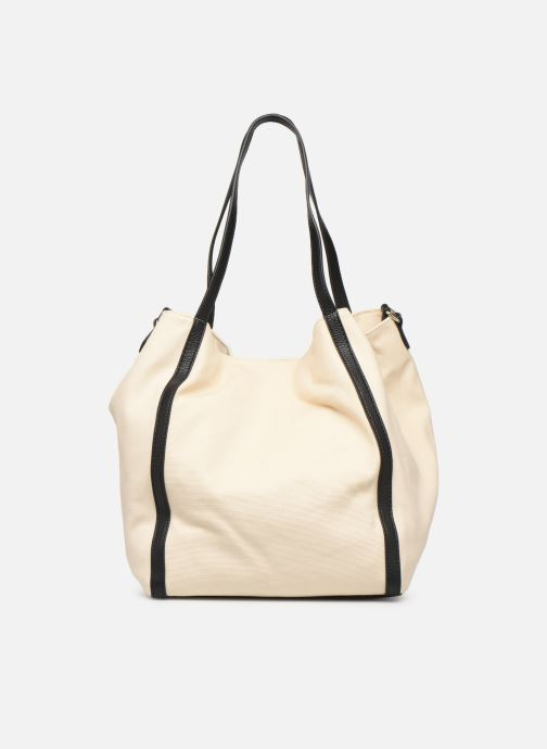 Sacs à main Love Moschino THE CANVAS HEARTS TOTE Blanc vue face